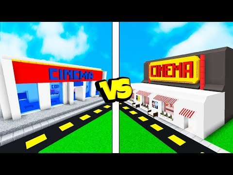CONSTRUINDO O MELHOR CINEMA! -  Minecraft Batalha de Construção