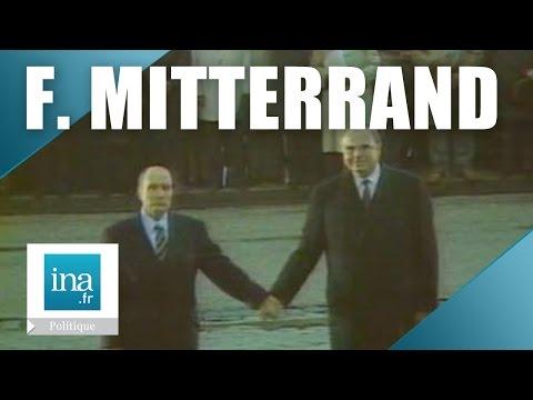 François Mitterrand et Helmut Kohl main dans la main à Verdun | Archive INA