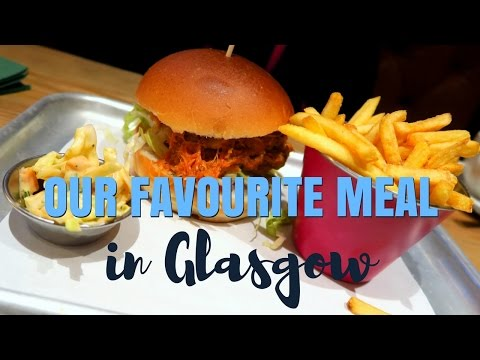 Our favorite meal in Glasgow, Scotland at the Crafty Pig restaurant and pub
