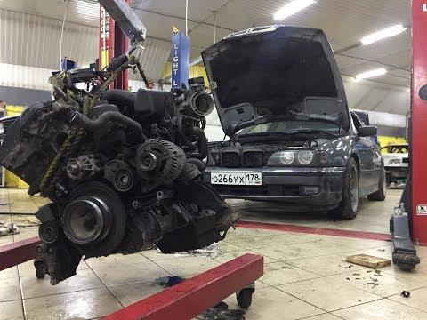 Смерть мотора BMW e39 \\ дефектовка м52б28