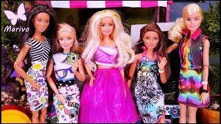 Bajka Barbie  Malowanie ubrań i nowa koleżanka????  Barbie Crayola  Po polsku z lalkami