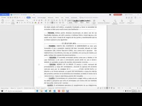 REDACTA (2) TU CONTRATO DE ARRENDAMIENTO. Parte 2