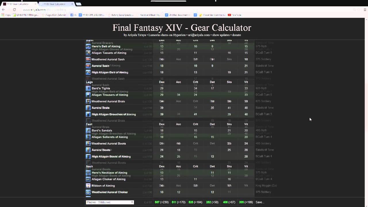 FFXIV ARR: Choosing How to Upgrade Gear (Tank/DPS)
