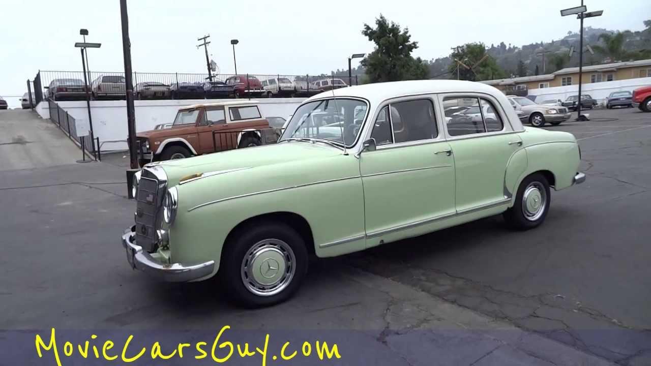 Movie Cars Ponton TV Film Show Classic Vintage Mercedes