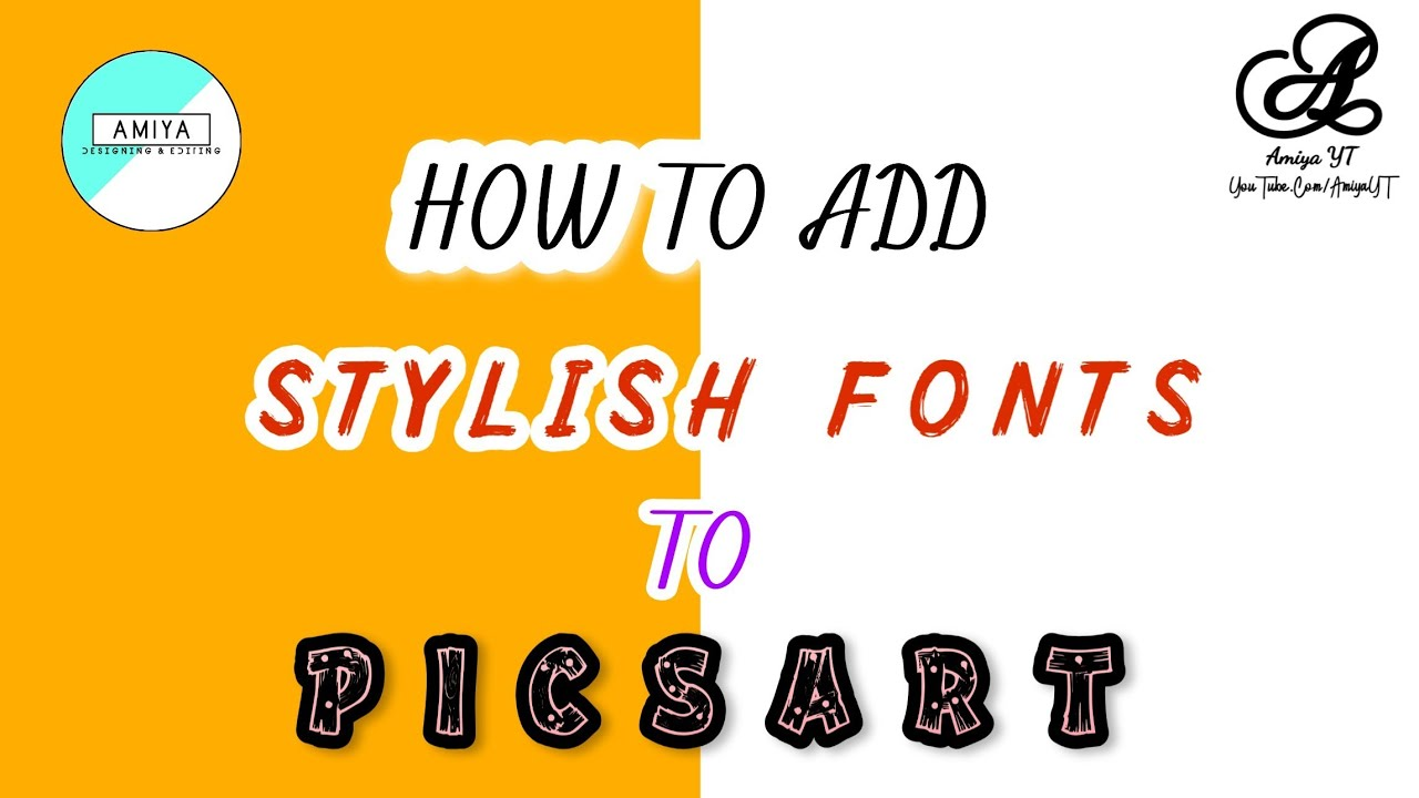 Download How To Add Stylish FONTS To Picsart | PICSART Editing ...
