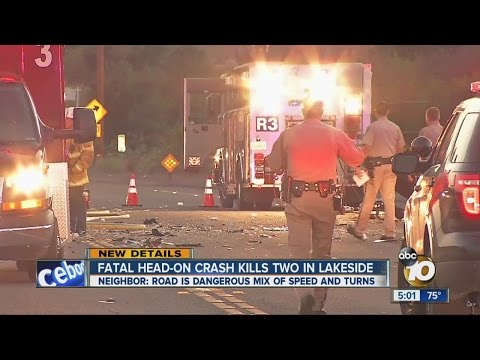 Fatal head-on crash kills two in Lakeside