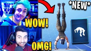 """Streamers React to *NEW* """"Spring-Loaded"""" Emote! *RARE*   Fortnite Highlights & Funny Moments"""