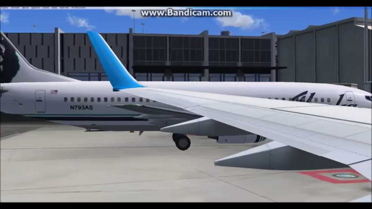 FSX: Alaska Airlines Boeing 737-900ER Takeoff from San Francisco Intl   Airport