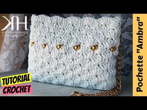 Punto Crochet All Uncinetto.Tutorial Uncinetto Maxi Bauletto Melange Punto Stella Crochet