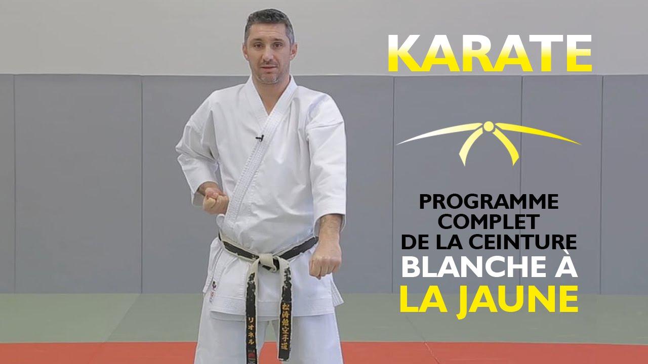 effcafb65cf0 Karaté de la ceinture blanche à la ceinture jaune - Cours de karaté débutant