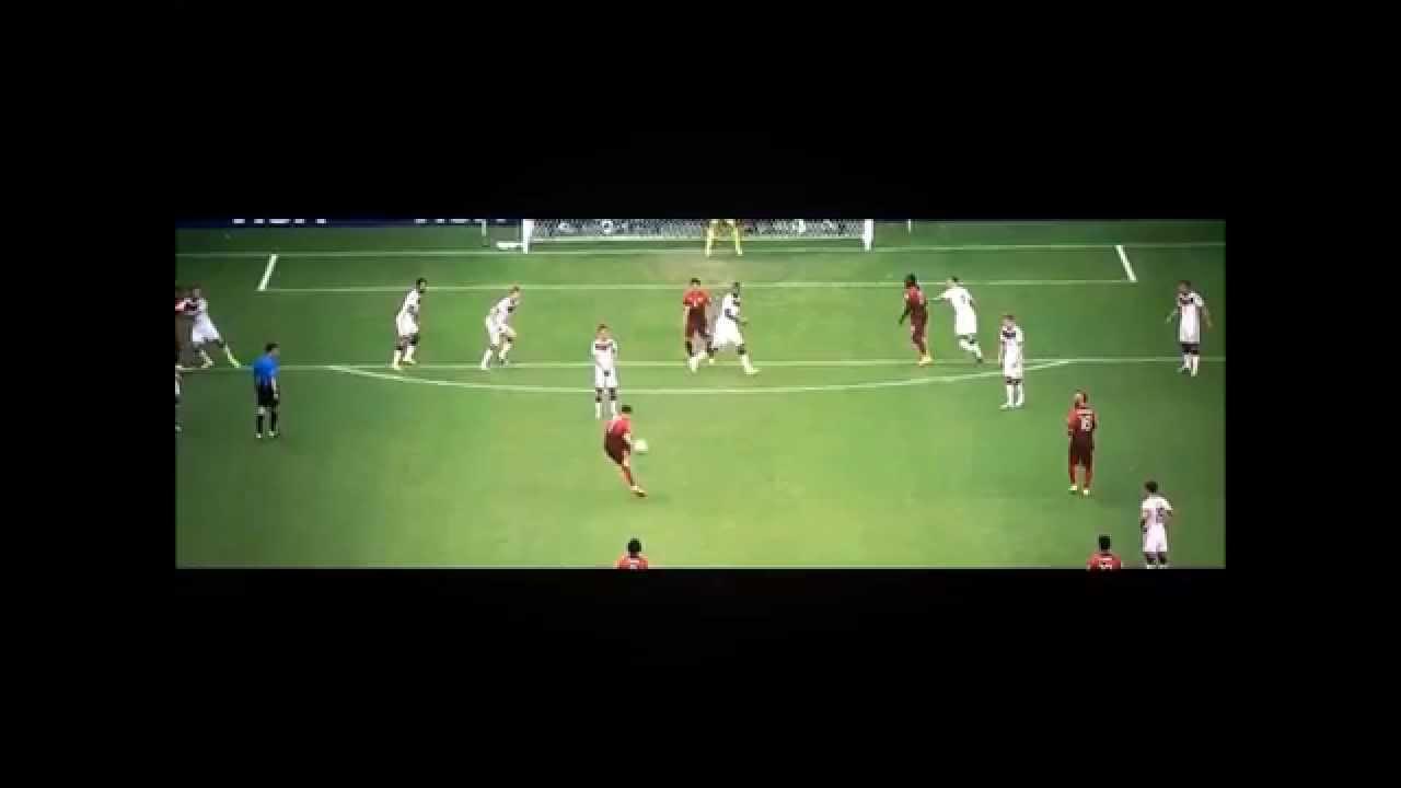GER - POR - Ronaldo fails his Freekick vs 1 man wall Lahm - World Cup 2014