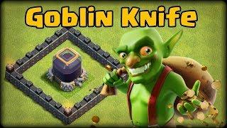 Clash of Clans goblin knife attack strategy fastest dark elixir farming method 2017