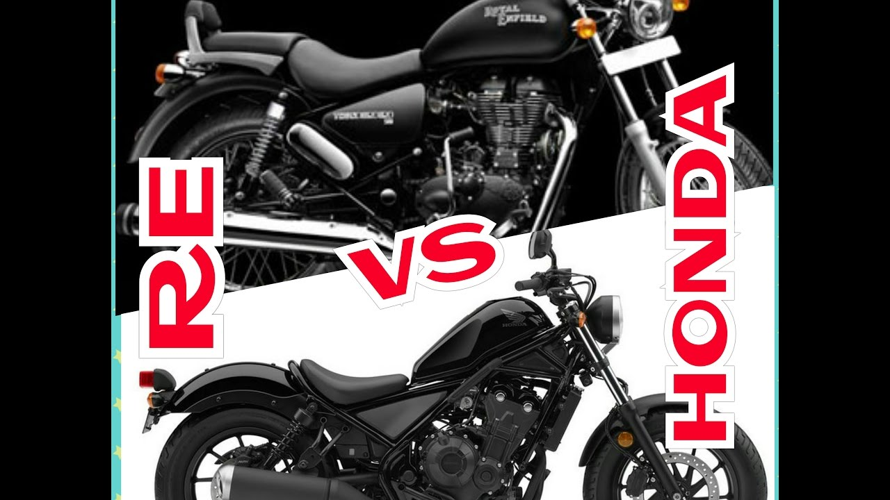 Re Thunderbird Vs Honda Rebelstongest Rival Of Royal Enfield