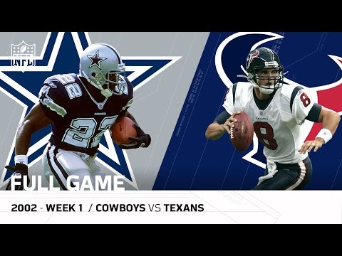 Texans First Win in Franchise History  (Week 1 vs. Cowboys, 2002 - FULL GAME) | NFL