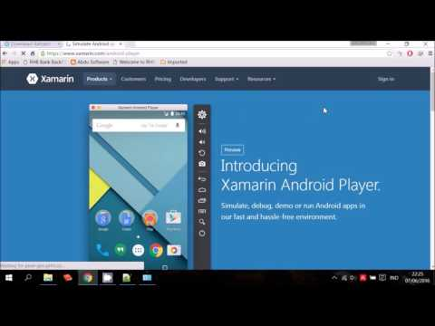 Xamarin + Xamarin Android Player + SDK