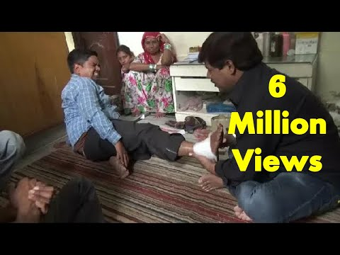 Amazing Chiropractor In India Fixing Ankle Sprains (Traditional Bone-Settler In Indian Village)