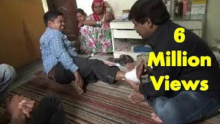Amazing Chiropractor In India Fixing Ankle Sprains : Traditional Bone-Settler In Indian Village thumbnail