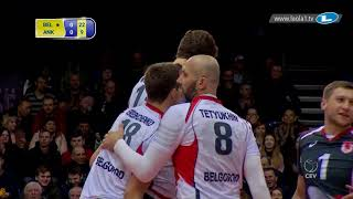 Volleyball seems so easy when you have giant Dmitriy Muserskiy on your side!