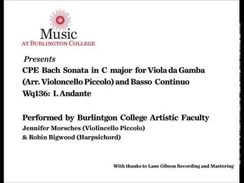 Music at Burlington College Presents CPE Bach