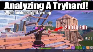Spectating A TRYHARD! What He Did Right and Wrong! (Fortnite Vod Review)