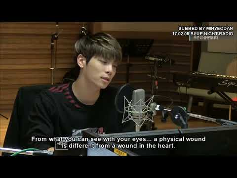 [eng sub] SHINee Jonghyun, how to comfort someone (Blue Night Radio)