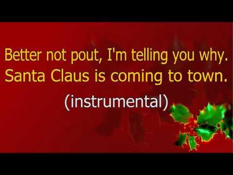 Karaoke   'Santa Claus is coming to town'