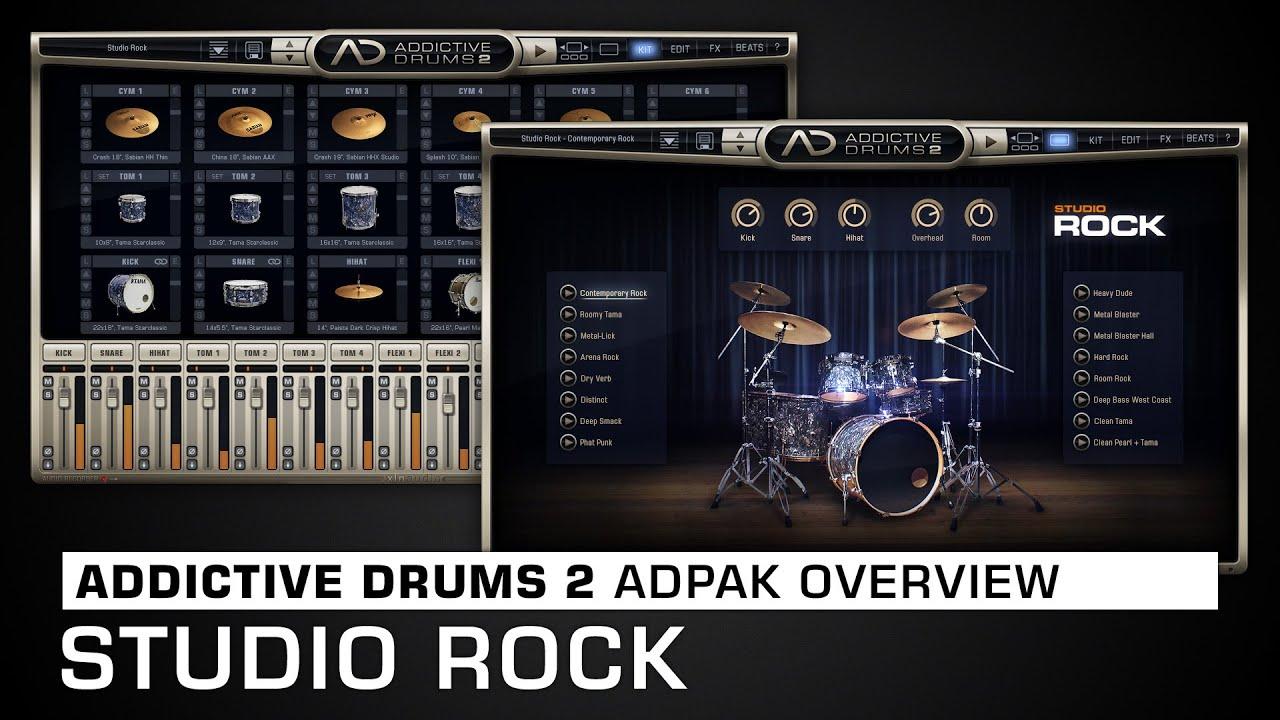 Addictive Drums 2 ADpak Overview: Studio Rock