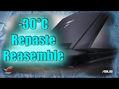 I Repasted my GPU and CPU with OLD THERMAL PASTE!   ASMR ASUS G750 Repaste