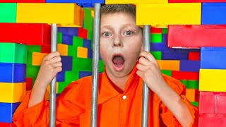 I Put My Little Brother in LEGO Prison for 24 Hours !