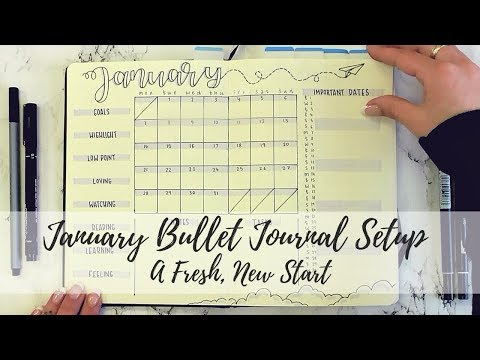 A Fresh, New Start - January 2019 Bullet Journal Setup