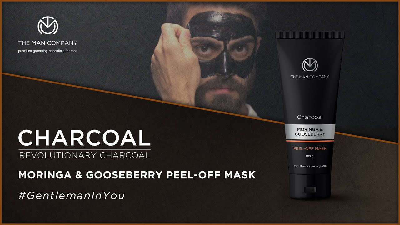 Charcoal Peel Off For Men Blackhead Removal Mask The Man Company The Man Company