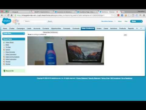 WebRTC-Salesforce Video Conferencing Demo