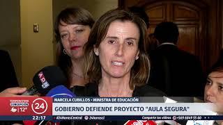 Aula Segura: El duro testimonio de inspectora del Instituto Nacional rociada con bencina