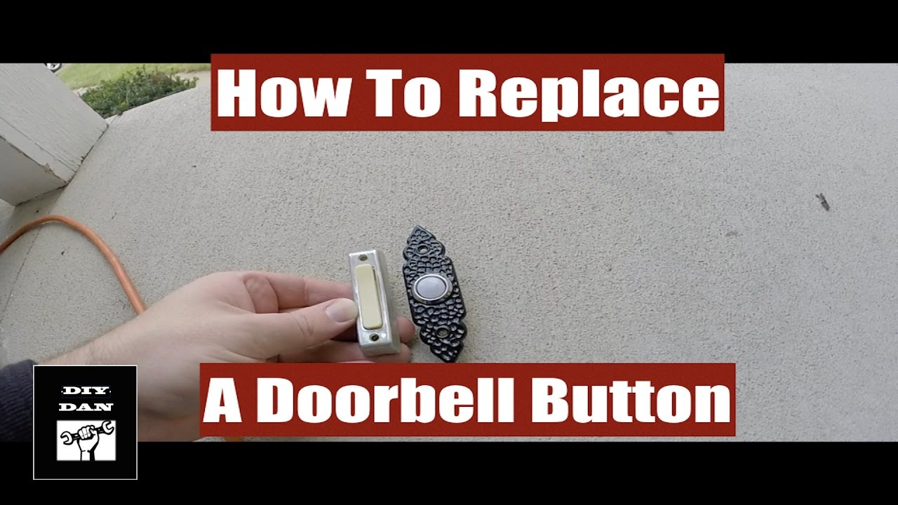 How To Replace A Doorbell Button  YouTube