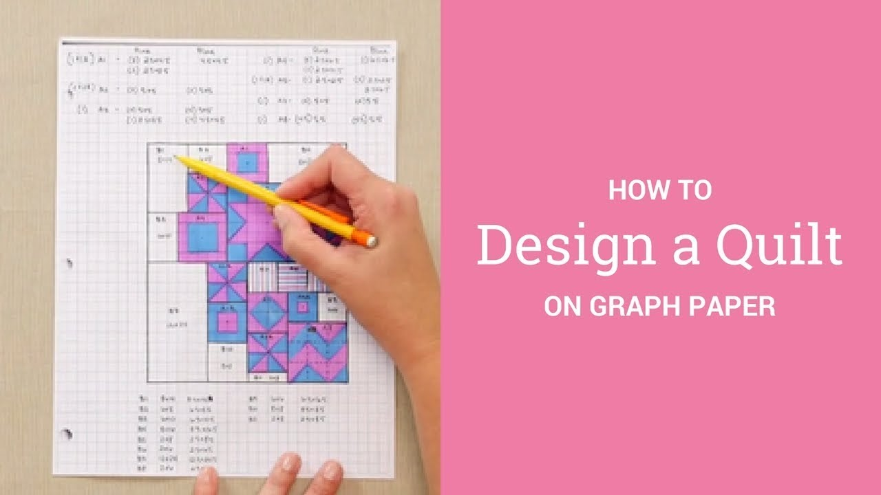 How To Design A Quilt On Graph Paper Youtube