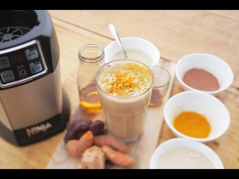 Nutri Ninja Recipe - Turmeric Madness Smoothie with Turmeric and Coconut Milk