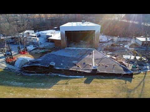 Merriweather Post Pavilion Collapse (Aerial Footage)
