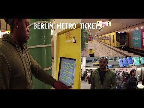 BERLIN : how to buy METRO/BUS tickets and get to the city from TEGEL AIRPORT (GERMANY)