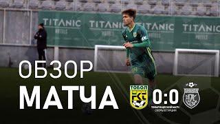 «Тобол» 0:0 «Ислочь»: обзор матча