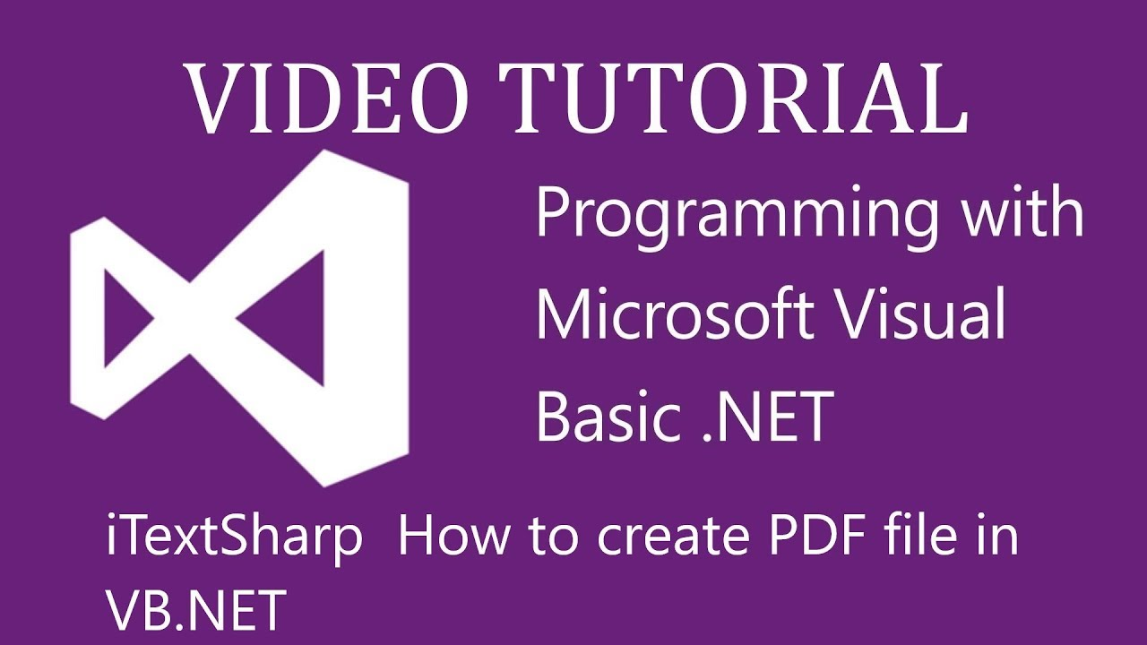 Visual Basic tutorial: How to create a pdf file