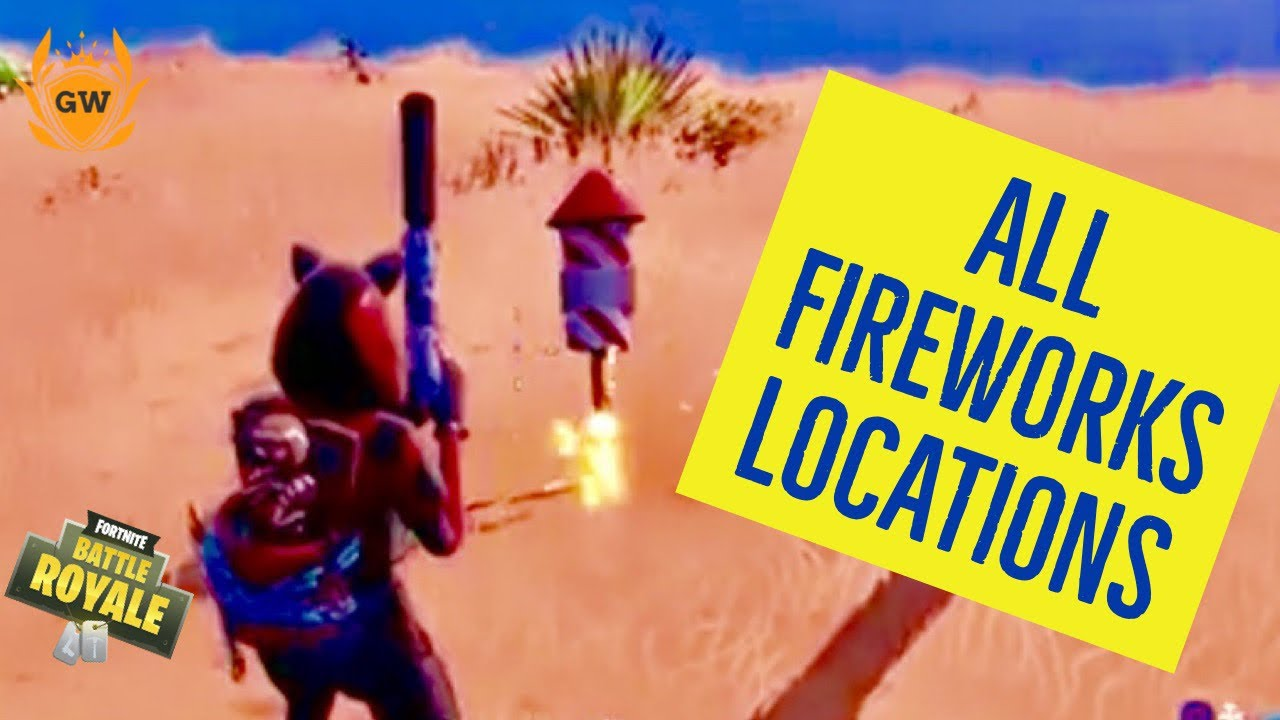 Launch Fireworks All 3 Locations Week 4 Challenges Fortnite Battle