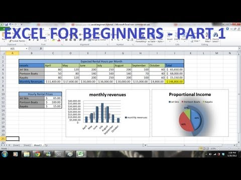 How To Use Excel Tutorial For Beginners Part