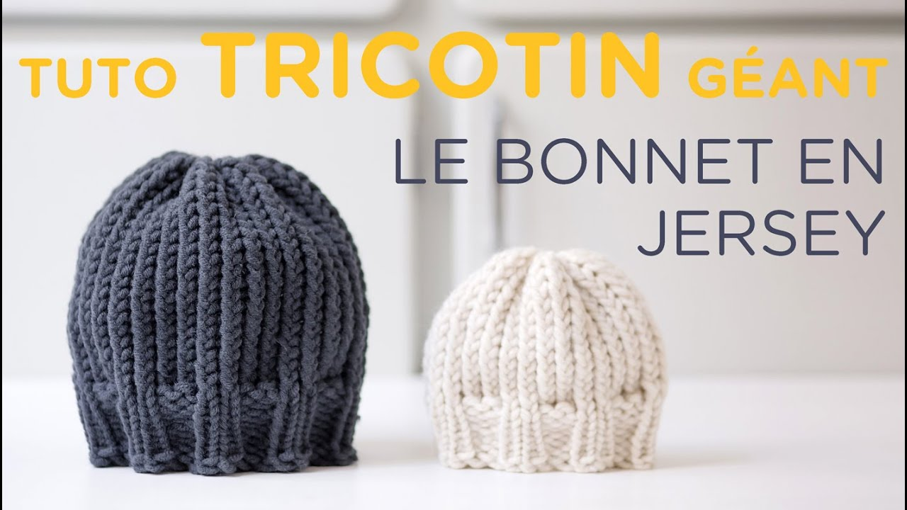 Tuto tricotin   le bonnet jersey bord côtes   Loom knit a beanie - YouTube fa53d8869d2