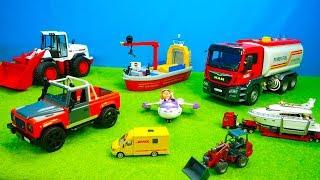 Müllauto, Mischerauto, Bagger & Laster, Kranauto & Traktoren, Ambulance, Feuerwehr & Polizei, Bruder