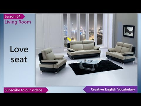 Living Room Furniture Vocabulary learn english - english vocabulary lesson 54 - living room | free
