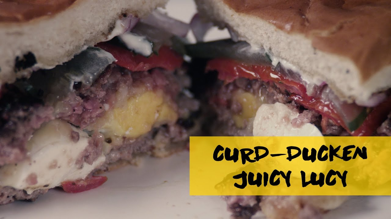 How to Make Curd-Ducken Juicy Lucy