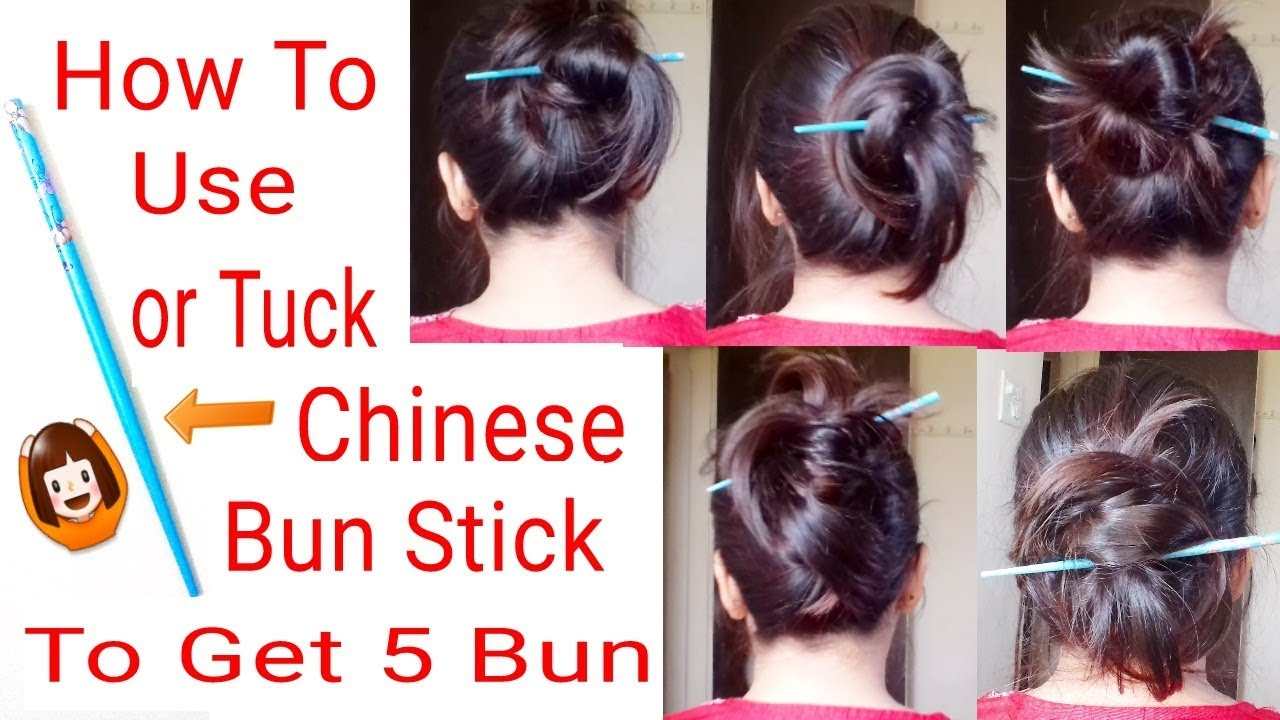 Easy Quick Chinese Bunstick Hairstyles Bunstick Hairstyles Everyday Hairstyles Alwaysprettyuseful