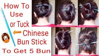 Easy/Quick: Chinese BunStick Hairstyles|Bunstick Hairstyles|Everyday Hairstyles|Alwaysprettyuseful