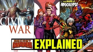 MARVEL Secret Wars EXPLAINED - Civil War, Spider-Man Renew Your Vows, Age of Apocalypse