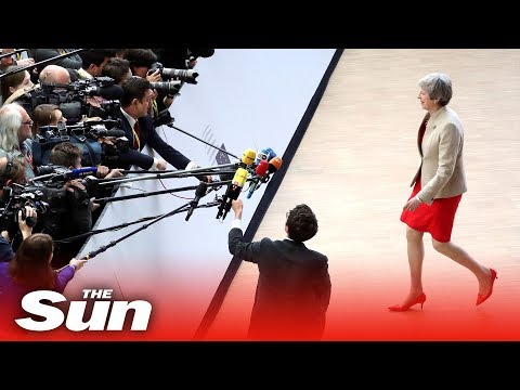 Regretful Theresa May arrives in Brussels for final EU summit